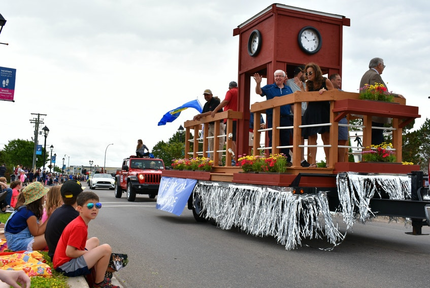 Summerside City Councillors and Mayor wave to crowds of people during the 2019 Summerside Lobster Carnival parade. The 2020 event has been cancelled due to coronavirus concerns.