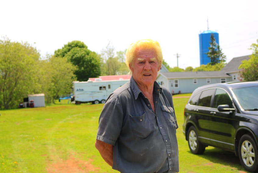 Art Gerrard a Pope Road resident was angered after two cars drove through his property by what he thinks, was to avoid the Pope Road, Central Street intersection.