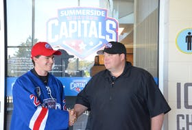 Summerside Western Capitals general manager Pat McIver welcomes Landon Clow of Kensington to the MHL (Maritime Junior Hockey League) team. Clow, who is from Kensington, was announced as one of the team's two territorial picks on Monday night.