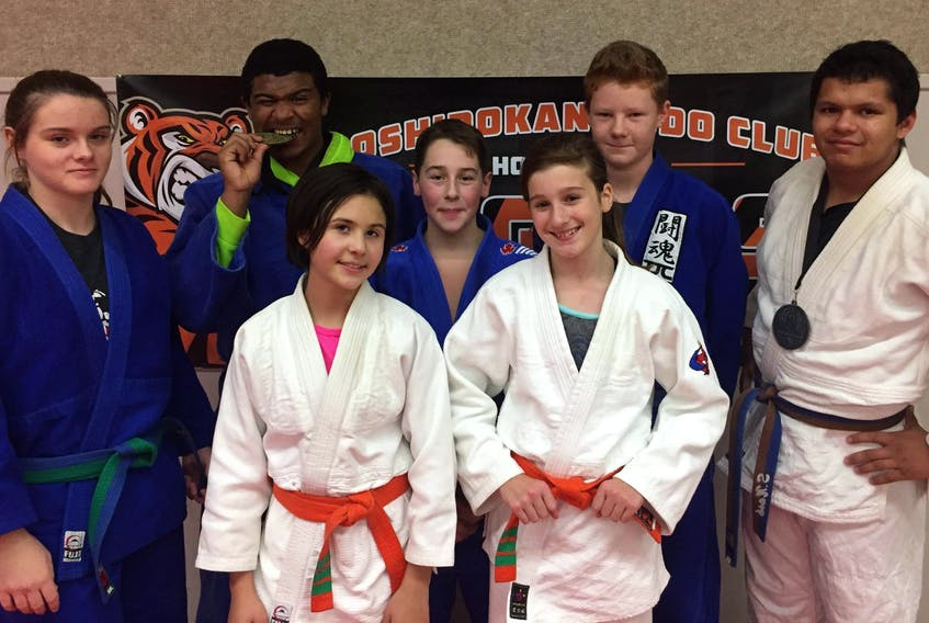 Members of the Toshidokan Judo Club in Summerside recently competed in the Quebec Open and Ontario Open. They are, front row, from left: Jenna Condra and Paige Walfield. Back row: Ellen Gillis, George Madumba, Riely Gallant, Kris Lafrance and Sebastian Nash.