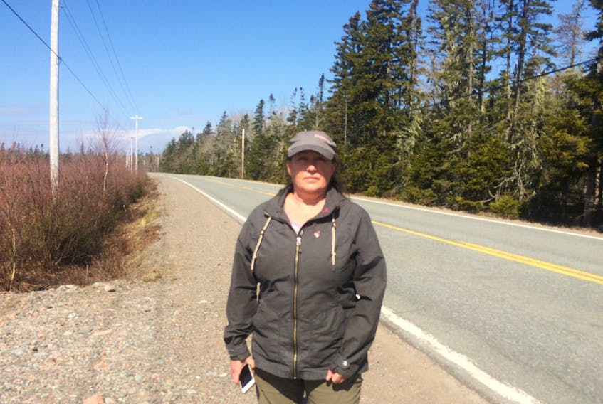 Christine Mills is a resident of Portapique. She woke up overnight Sunday/early Monday morning to the presence of police activity in the area.