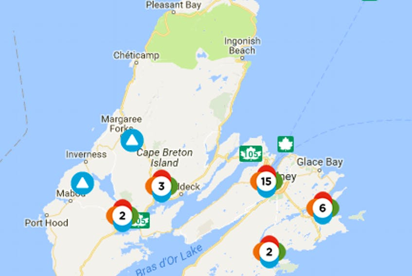 Power outages on Thursday, Nov. 23, 2017.