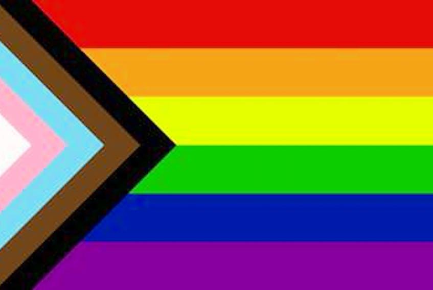 The Truro Pride Progress flag.