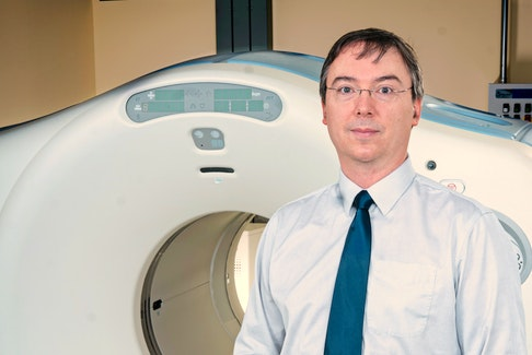 Dr. James Clarke, Head of the Department of Diagnostic Imaging at the QEII Health Sciences Centre, is leading a group of radiologists who are tripling public donations towards a new extended field-of-view PET-CT scanner. - QEII Foundation