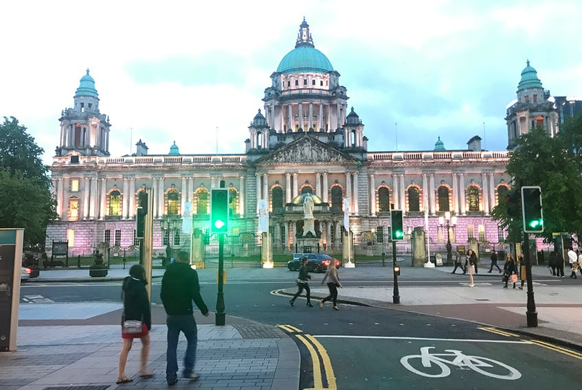 Belfast's City Hall is a polished and majestic celebration of Victorian-era pride built with industrial wealth. Rick Steves