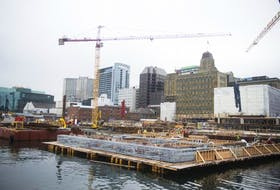 Construction continues on the Queen's Marque development in downtown Halifax on Tuesday, May 1, 2018.