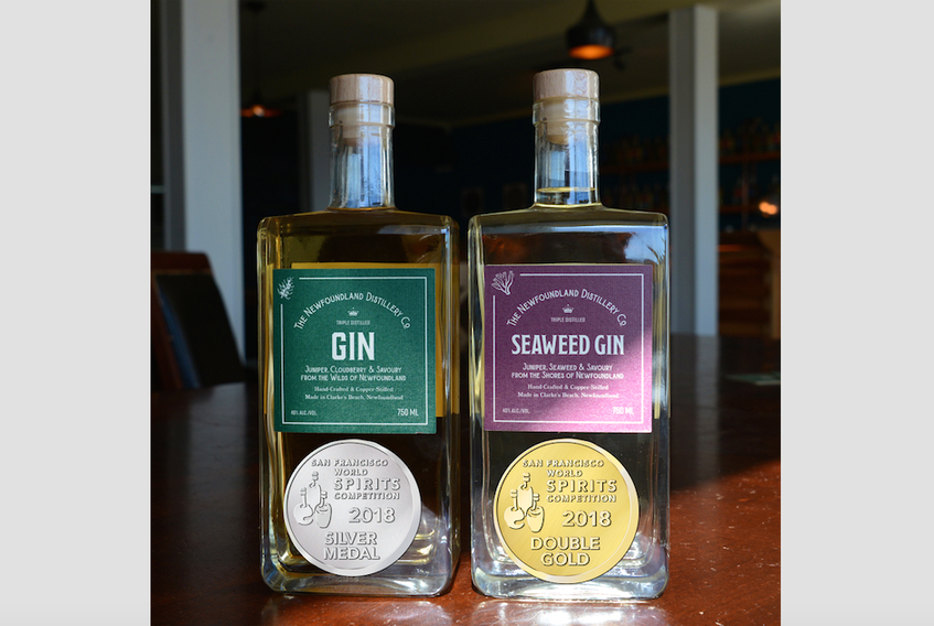 The Newfoundland Distillery Company's seaweed gin and cloudberry gin were both recognized with medals at the San Francisco World Spirit Competition.