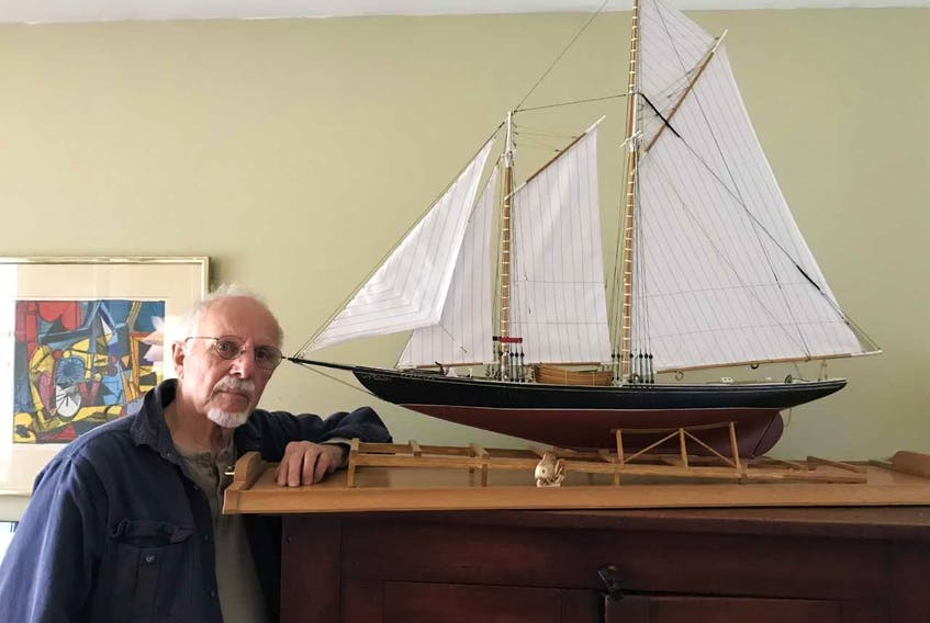 Paul Stainkamp of Albany, New York had his interest in fishing schooners in Newfoundland peaked after getting a model of the banking schooner Partanna at an estate sale. CONTRIBUTED PHOTO