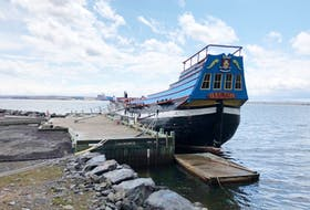 The Ship Hector is going to be lifted out of the Pictou Harbour for repairs.