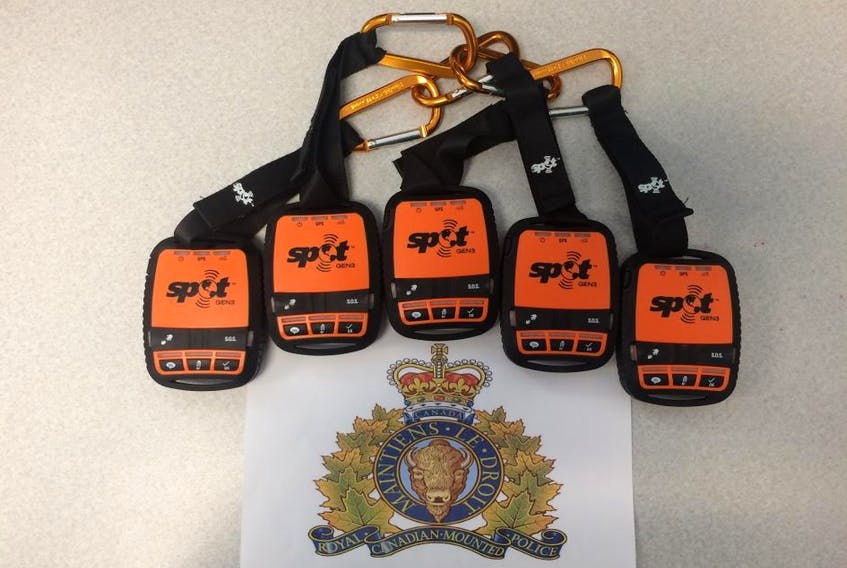 Satellite Personal Trackers (SPOT) devices. RCMP photo.