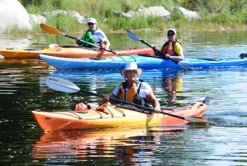Kayakers from a previous Shelburne Kayak Festival take in the sights and sounds. - Carly MacKay