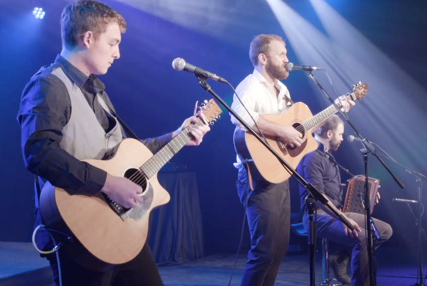 Rum Ragged performs at the 2021 MusicNL Awards show.