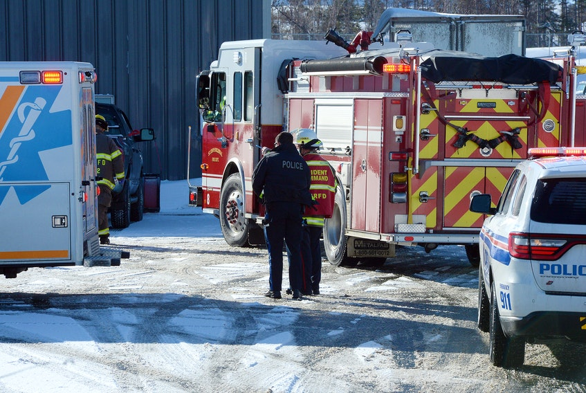 One man was hospitalized after he was struck by a pickup in Paradise Wednesday morning. Keith Gosse/The Telegram