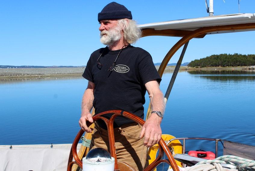 Breskell captain Olivier Huin arriving at the Royal Newfoundland Yacht Club last summer.