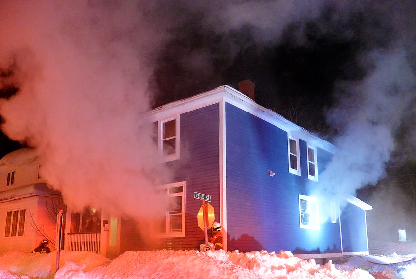Fire caused significant damage to an apartment in St. John's Sunday night. Keith Gosse/The Telegram