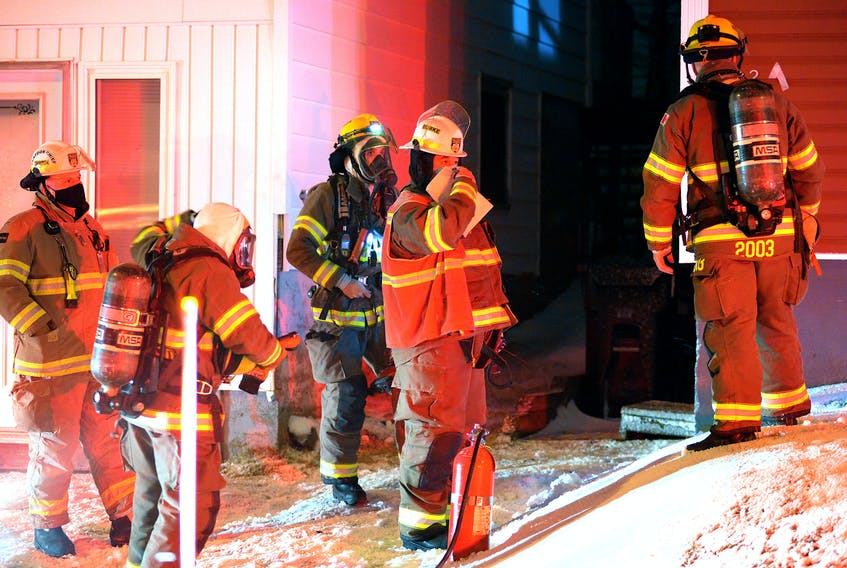 Firefighters made quick work of a kitchen fire in St. John's Sunday night. Keith Gosse/The Telegram
