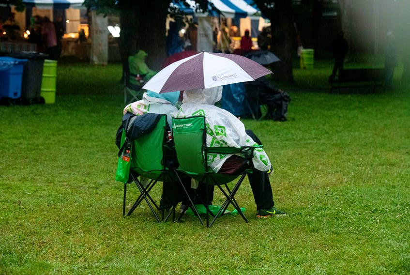 Spectators at last weekend's Newfoundland and Labrador Folk Festival often had to deal with rain, sprinkles and showers.