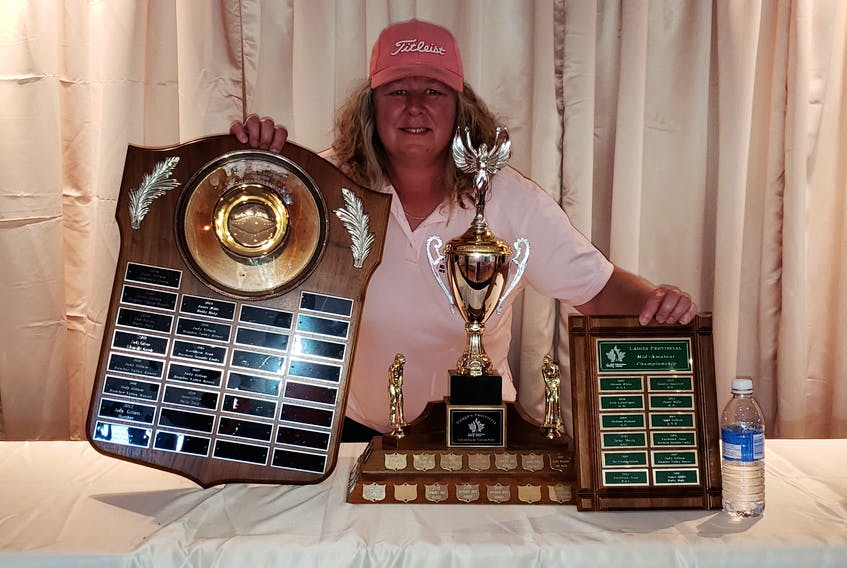 Kathleen Jean of Stephenville is the latest golfer to win the Newfoundland and Labrador amateur, mid-amateur and senior women's divisions. — Submitted/NLGA
