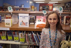Kirsten O'Leary, 10, who served as the Provincial Children's Librarian for a day after winning a summer reading contest through the Newfoundland and Labrador Public Libraries.