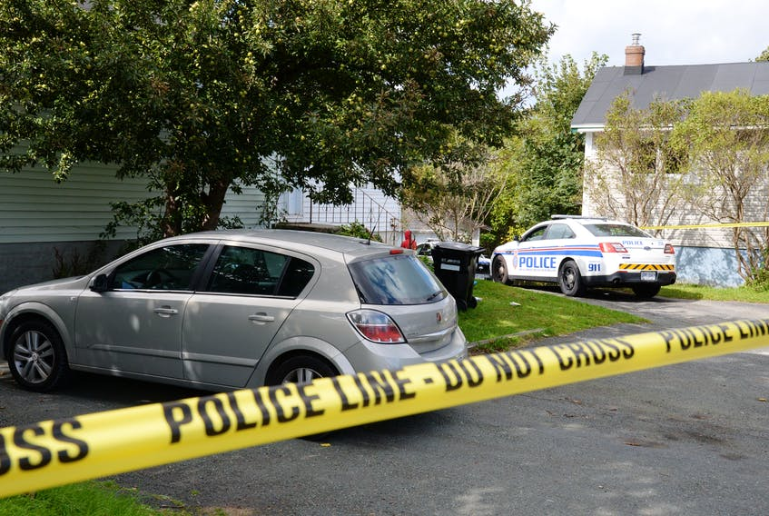 The RNC remained at the scene of a disturbance in the central area of St. John's Friday. A man received serious injuries during an incident Thursday night. Keith Gosse/The Telegram