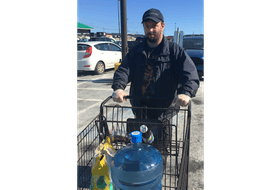 Fred Lamb was trying to find items on his shopping list Tuesday in St. John's. - BARB SWEET/THE TELEGRAM