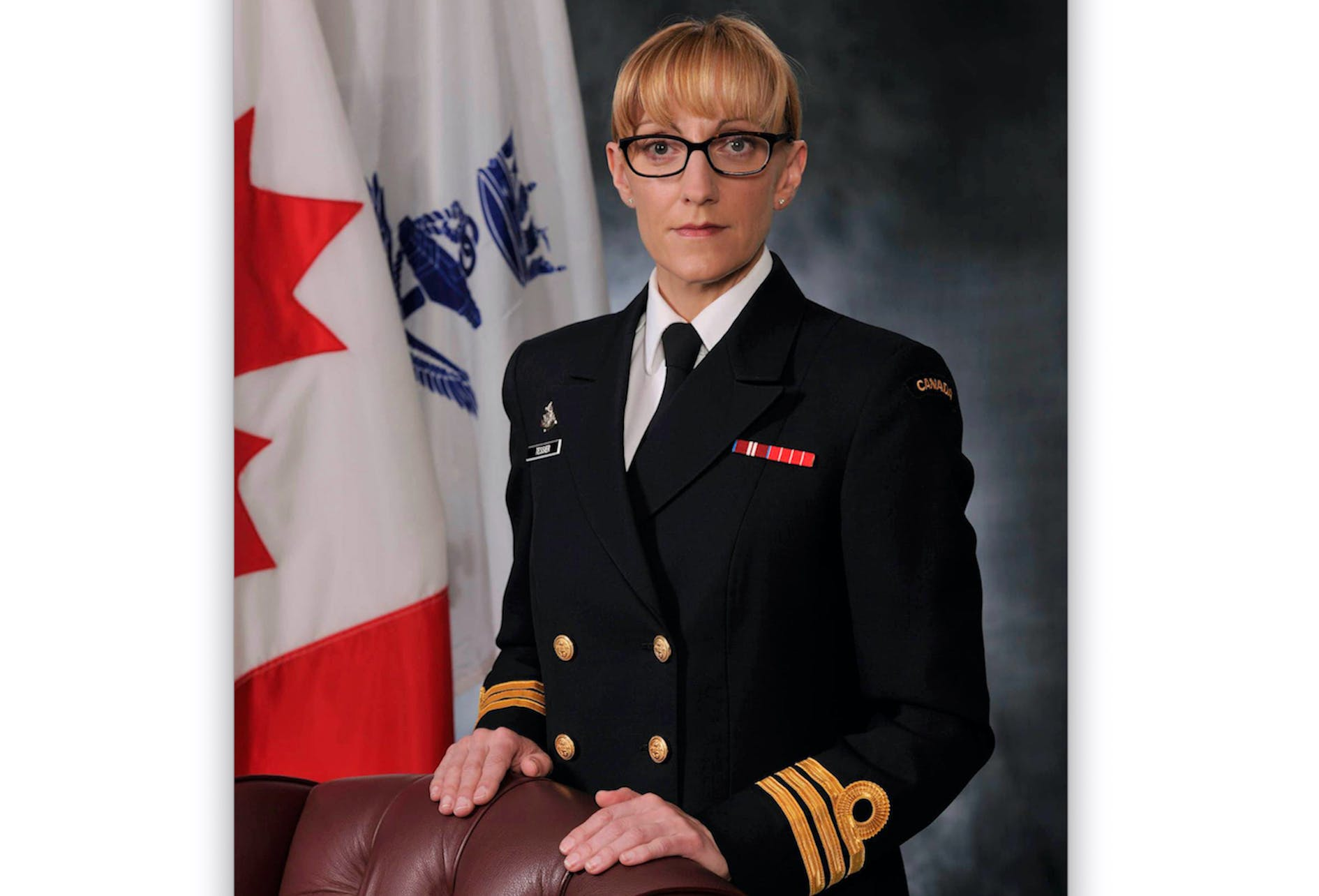 Michele Tessier of Grand Bank became just the third woman to command a Canadian navy warship in 2010. She is planning to retire this fall after a rewarding 25-year military career. — Contributed photo