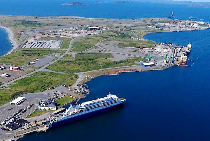 An aerial view of the Port of Argentia. — Twitter/Port of Argentia