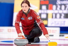 Sarah Hill has skipped Newfoundland and Labrador to wins in its first two games at the Scotties Tournament of Hearts. — Curling Canada photo/Andrew Klaver/Facebook