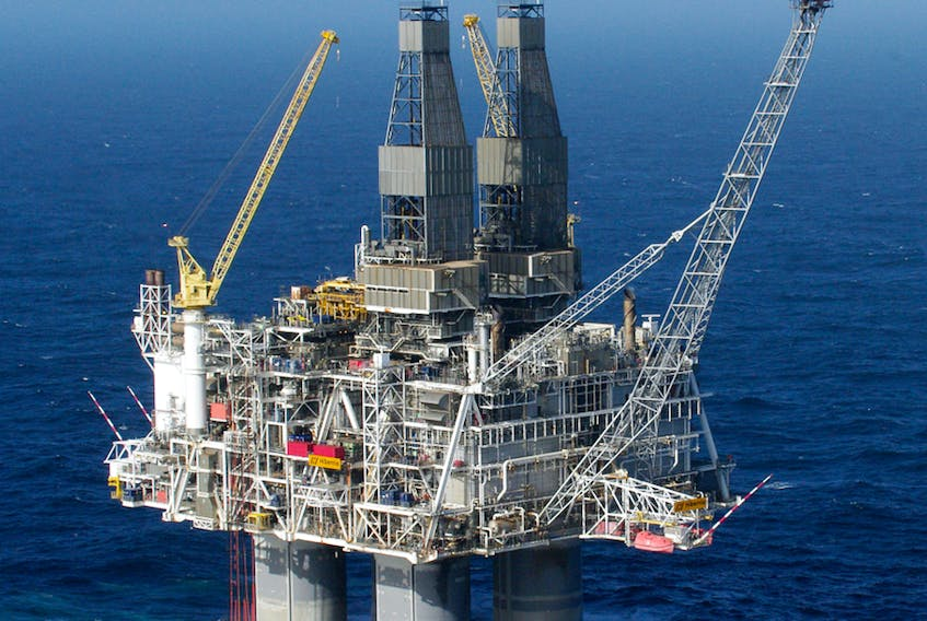 The production platform at Hibernia operated by Exxon Mobil. — CONTRIBUTED