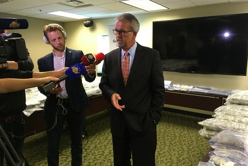 Newfoundland and Labrador Liquor Corporation vice-president of regulatory services Sean Ryan says four search warrants since June have been part of the corporation's broader enforcement efforts on cannabis.