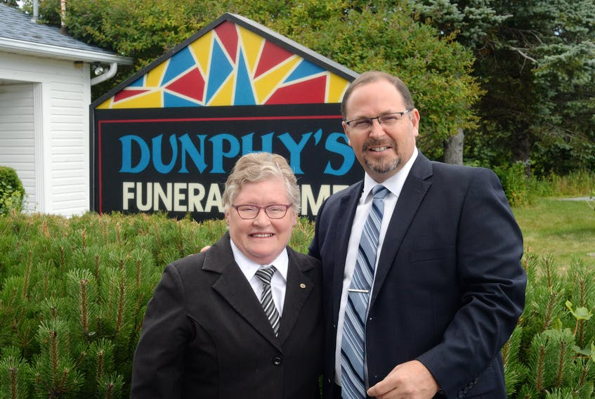 Barb Dunphy — the last of the family involved in the operation of Dunphy's Funeral Home in Holyrood, is starting her semi-retirement. She's sold the business to a new owner, Ron Fitzpatrick, who took over the funeral home as of Friday, Aug. 16. The owner of a funeral business out in Western Canada, Fitzpatrick sold off his facilities when the opportunity arose to move back home to St. John's.