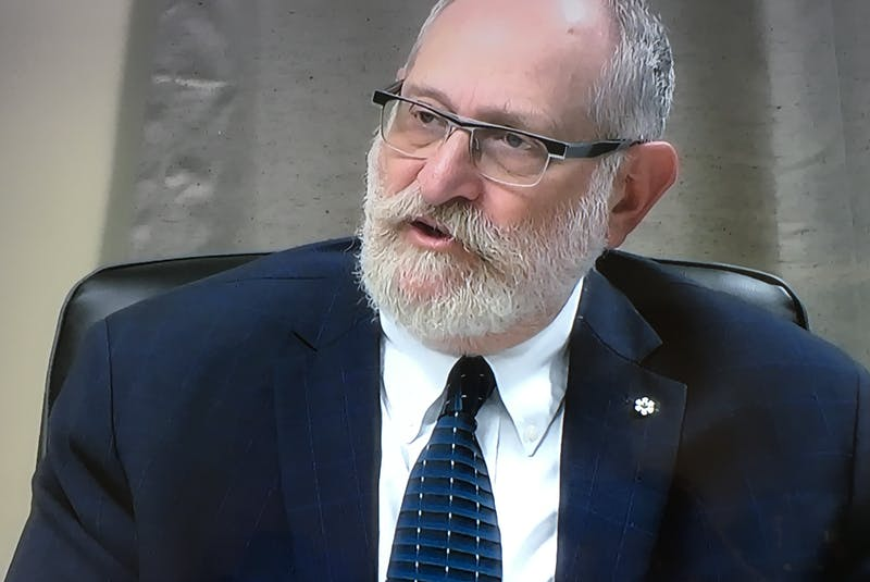 Professor at the Munk School of Global Affairs at the University of Toronto, Mel Cappe referred to his personal experience in the public service at the federal level, presenting to the Muskrat Falls Inquiry on Friday on the role and responsibilities of the public service. He was the last witness of phase three. — Screengrab