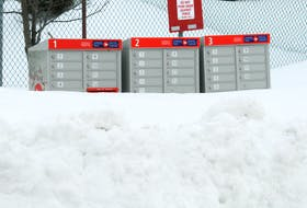Canada Post has plenty of snow to remove before mail delivery can return to normal on the Avalon. -JUANITA MERCER/THE TELEGRAM