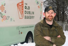 Kevin Massey of the Old Dublin Bakery stands in front of his new food truck. After several seasons selling from the St. John's Farmers Market, Massey is going mobile with his baked goods.
