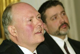 Bruce Wildsmith, foreground, counsel for the Assembly of Nova Scotia Mi'kmaq Chiefs