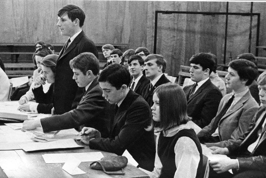 Students are shown in class at Queen Elizabeth High School in Halifax. This photo was originally published on May 3, 1968.