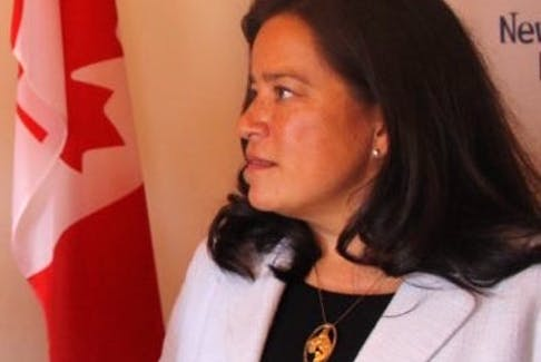 Jody Wilson-Raybould is shown in a SaltWire file photo during funding announcement in St. John's. N.L. in late 2017 when she was still Attorney General.