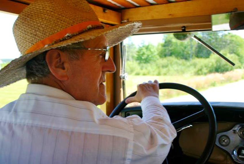 A favourite excursion for Laurent d'Entremont is taking a drive in one of his vintage vehicles.