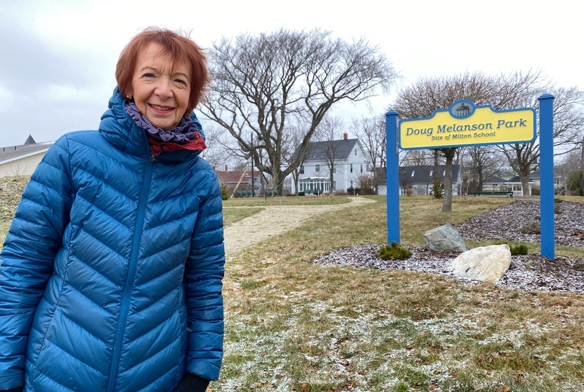 Jean Clulee, at the Doug Melanson Park on Brunswick Street in Yarmouth.