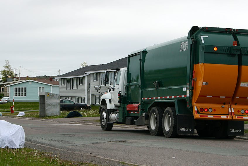 Waste is picked up in Grand Bank by the Burin Peninsula Regional Service Board's contractor in this file photo. - SaltWire Network file photo