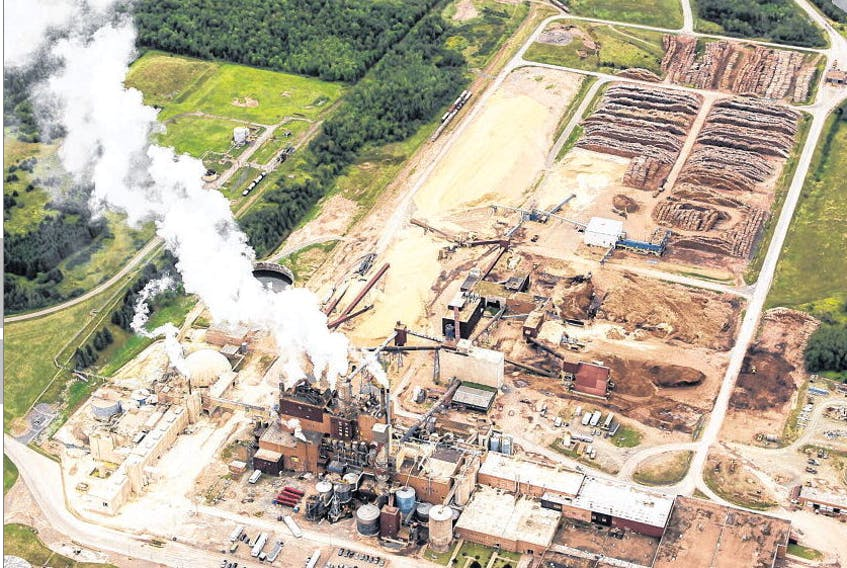 Some of the province's bigger natural gas customers, like Northern Pulp in Pictou County, shown in this August 2014 file photo, sign their own contracts for supply and are hit harder by the high spot prices in New England.