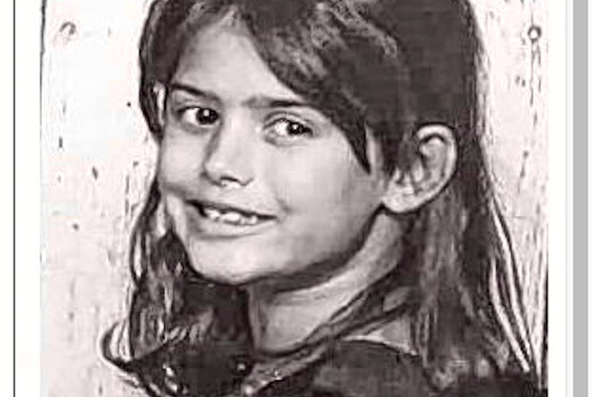 Seven-year-old Mya Prouty is shown in this undated photo