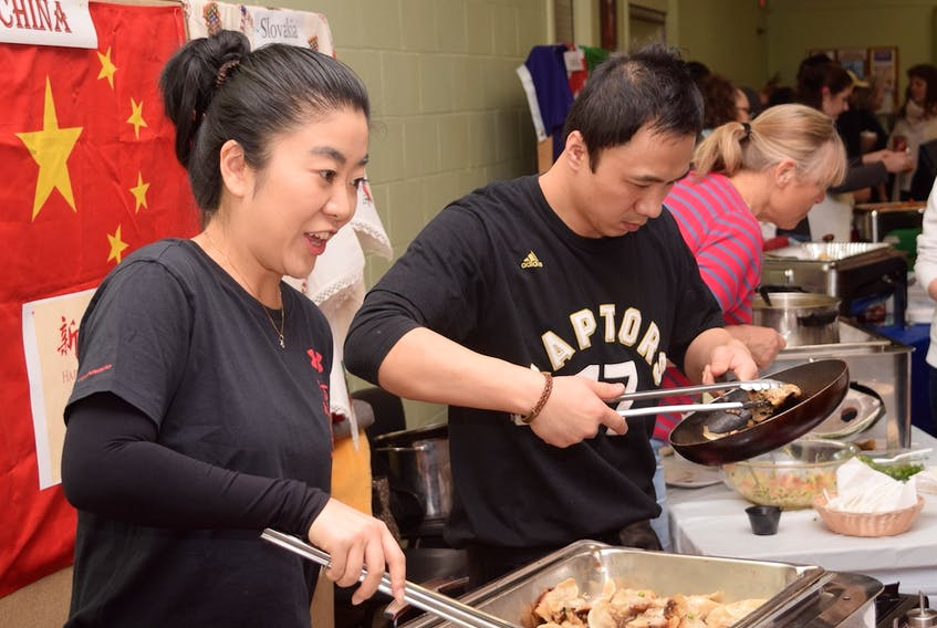 A vast selection of dishes from different countries was available at Saturday's Multicultural Night, including food from China, Australia, Hungary, Colombia and Guatemala, among others. While most foods were prepared beforehand, some were made on site, giving a glimpse into the craft behind the food.