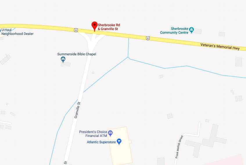 The Government of P.E.I. has issued a tender for the construction and completion of a roundabout at the intersection of Granville Street and Route 2 in Summerside. -Google Maps image