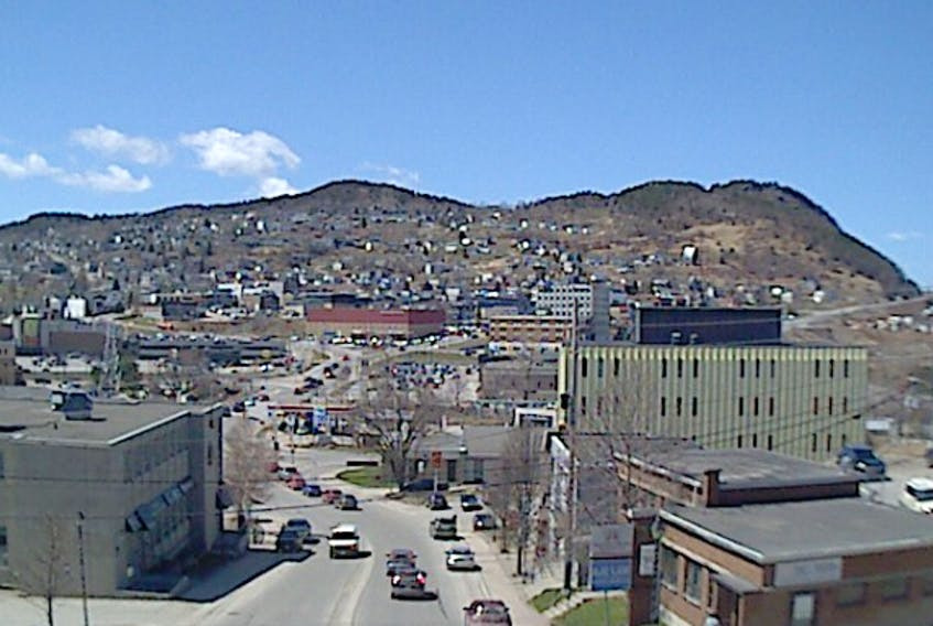 Our web-cam view looks west on Main Street, Corner Brook.