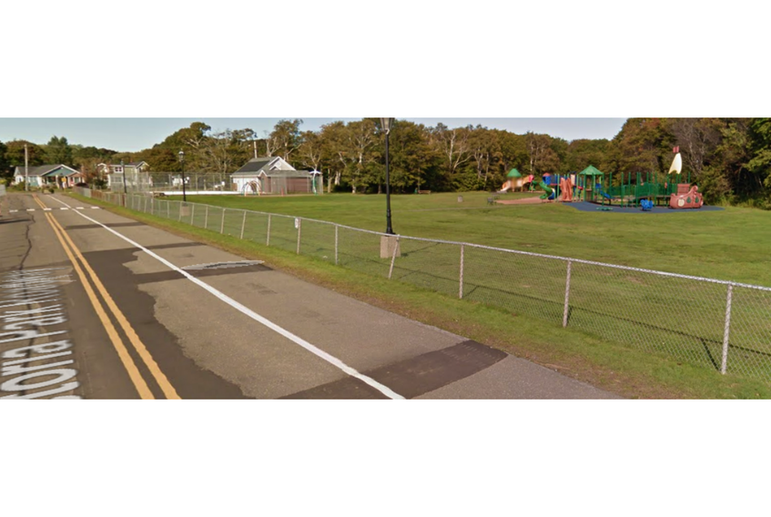 The bike lane in front of the pool and playground at Victoria Park in Charlottetown is closed to bike traffic while the fence is being replaced.