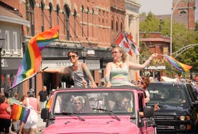 Rainbow flags and colourful clothing filled the streets during the P.E.I. Pride Parade as Islanders and visitors marched in support of the 2SLGBTQIA+ community in this file photo.