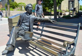 This bench statue of Sir. John A. Macdonald, Canada's first prime minister, has stirred up some controversy in Charlottetown. City Hall has received emails asking to have the statue removed because people say the man was racist against Indigenous people.