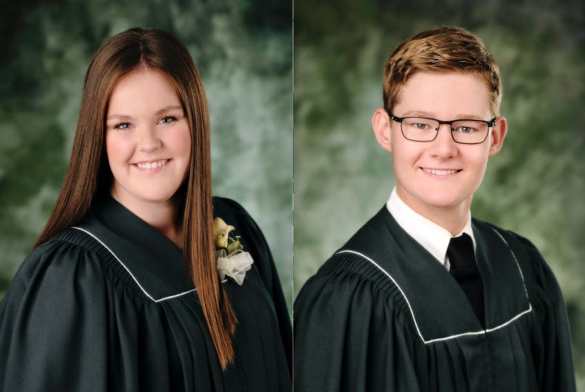 Ellen Cole and Charlie DesRoches have been named the athletes of the year at Kensington Intermediate-Senior High School.
