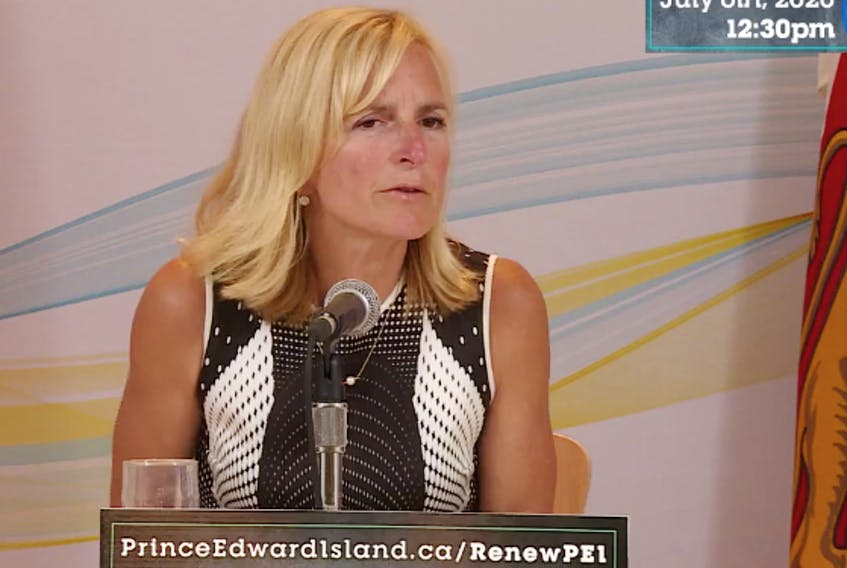 P.E.I.'s chief public health officer Dr. Heather Morrison gives an update on the coronavirus (COVID-19) pandemic Monday, July 6.